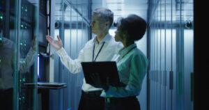 security engineering; cyber security team securing servers